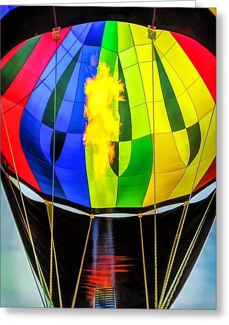 Hot Air Balloon Flame Greeting Card by LeeAnn McLaneGoetz McLaneGoetzStudioLLCcom