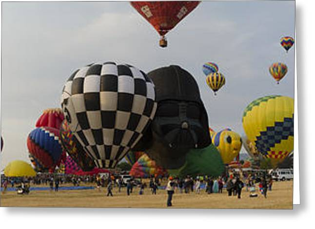 Hot Air Balloon Races Greeting Card by Rick Mosher
