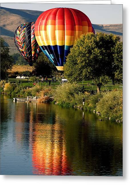 Hot Air Balloon Rally Greeting Card by David Patterson