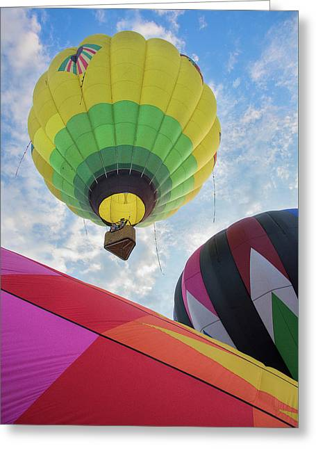 Hot Air Balloon Takeoff Greeting Card