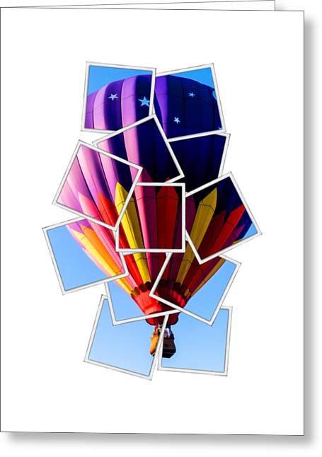 Hot Air Ballooning Tee Greeting Card by Edward Fielding