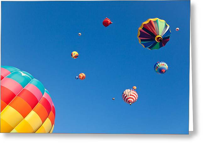 Hot Air Balloons 9 Greeting Card