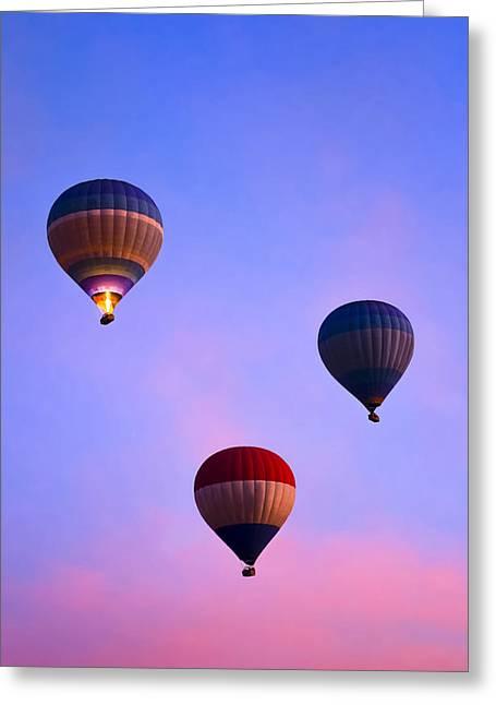 Hot Air Balloons At Dawn Greeting Card