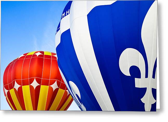 Hot Air Balloons Close-up Greeting Card
