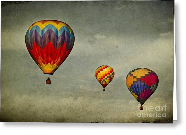 Hot Air Balloons Greeting Card by Elena Nosyreva