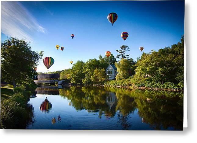 Hot Air Balloons In Queechee 2015 Greeting Card