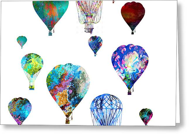 Greeting Card featuring the photograph Hot Air Balloons by Michael Colgate