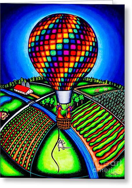 Hot Air Kats Greeting Card