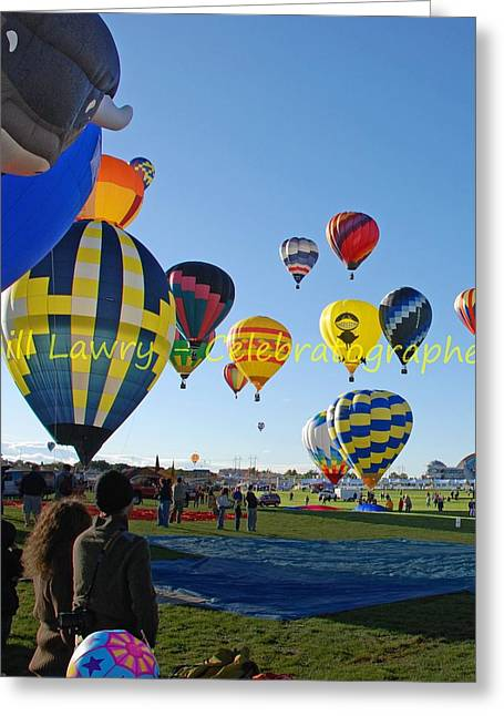 Hot Air Rising II Greeting Card by Bill Lawry - Celebratographer