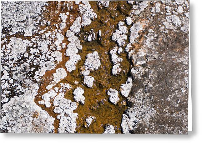 Hot Cascades Abstract Greeting Card