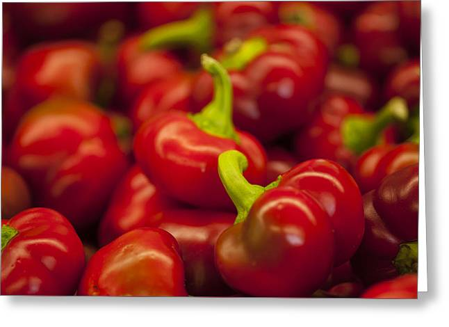 Hot Cherry Peppers Greeting Card
