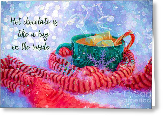 Greeting Card featuring the digital art Hot Chocolate 2016 by Kathryn Strick