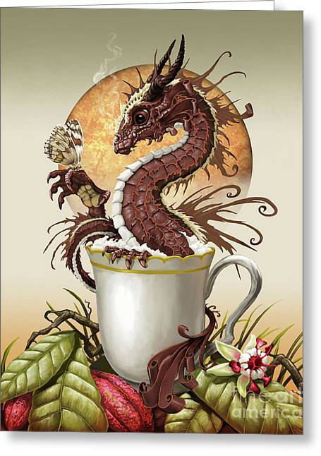 Hot Chocolate Dragon Greeting Card