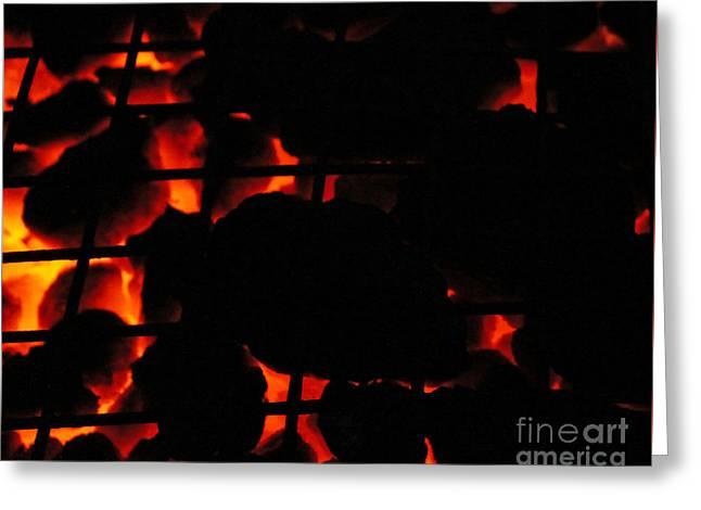 Hot Coals Greeting Card