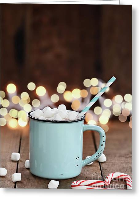 Greeting Card featuring the photograph Hot Cocoa With Mini Marshmallows by Stephanie Frey