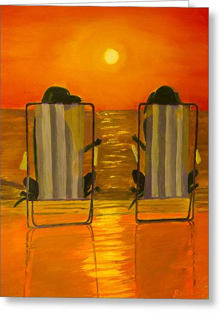 Hot Day At The Beach Greeting Card by Roger Wedegis