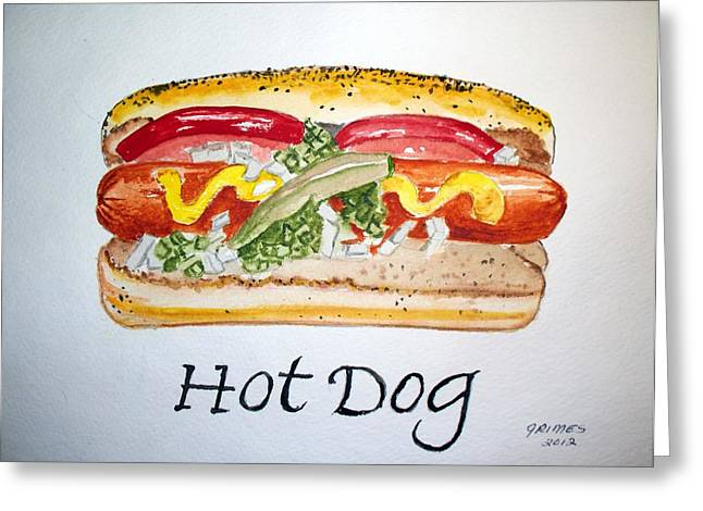 Hot Dog Greeting Card