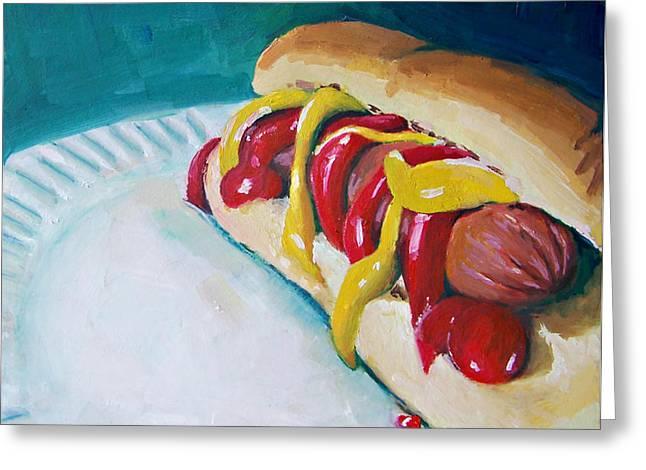 Hot Dog Greeting Card by Chelsie Brady