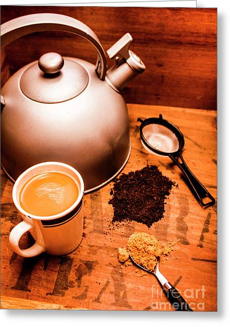 Hot Drink Details. Tea Print Greeting Card by Jorgo Photography - Wall Art Gallery