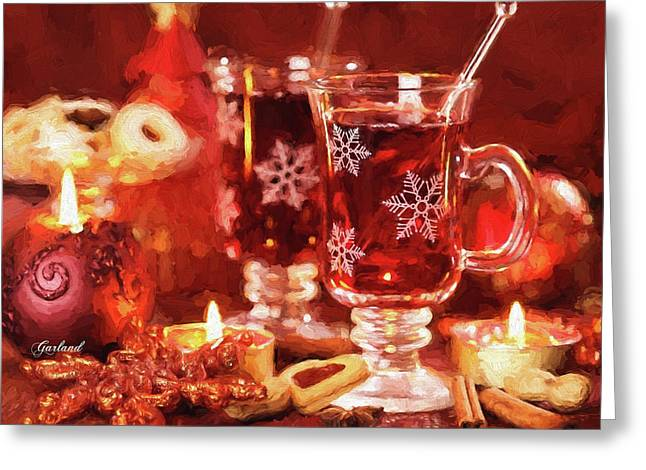 Hot Drink For Winter And Christmas Greeting Card