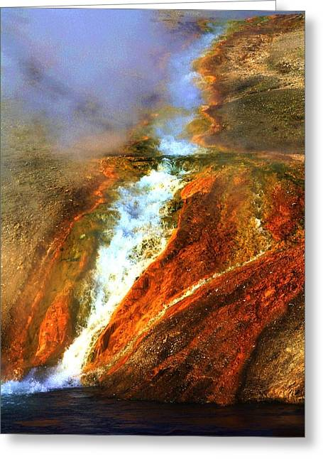 Hot Flow Greeting Card by Russell  Barton