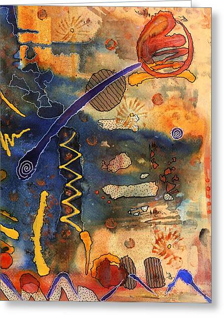 Survivor Art Greeting Cards - Hot Fun Out West in Arizona Greeting Card by Angela L Walker