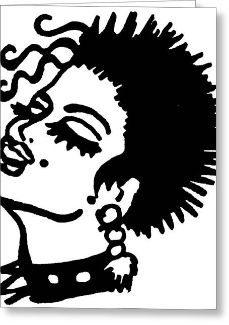 Hot Girl 2 Greeting Card by Capegi  Gallerie