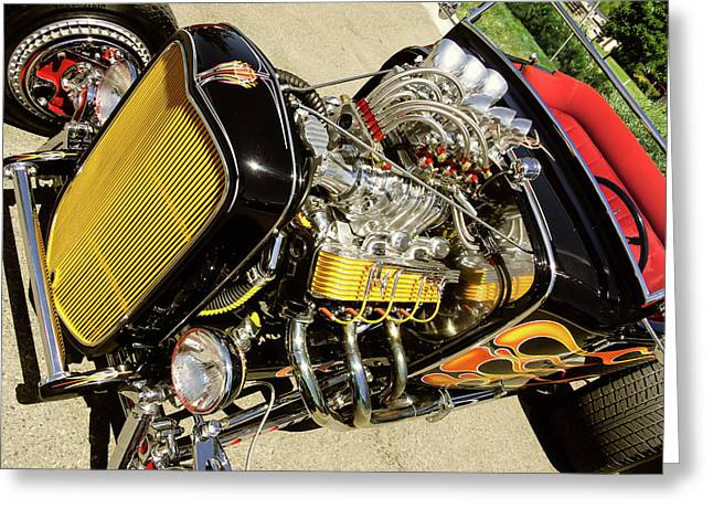 Hot Hotrod Greeting Card by Robert VanDerWal