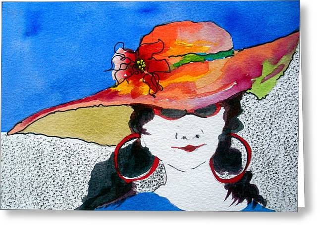 Hot Mama Greeting Card by Jane Ferguson