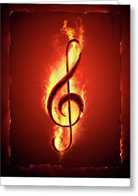 Hot Music Greeting Card by Johan Swanepoel