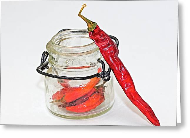 Hot Pepper Greeting Card by John Mueller