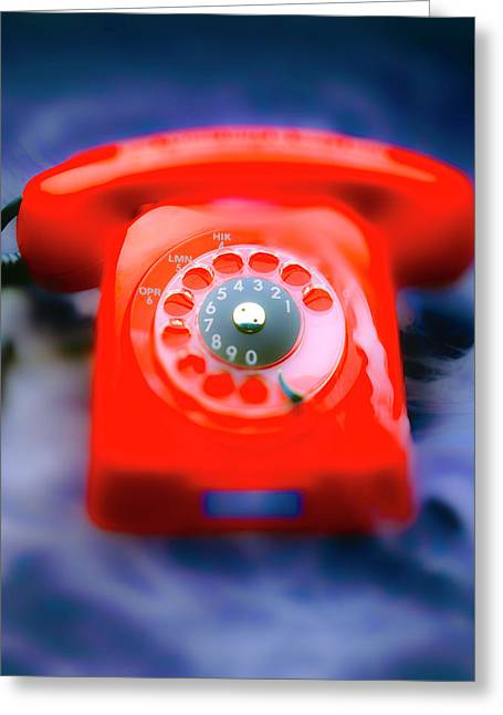 Hot Line Greeting Card