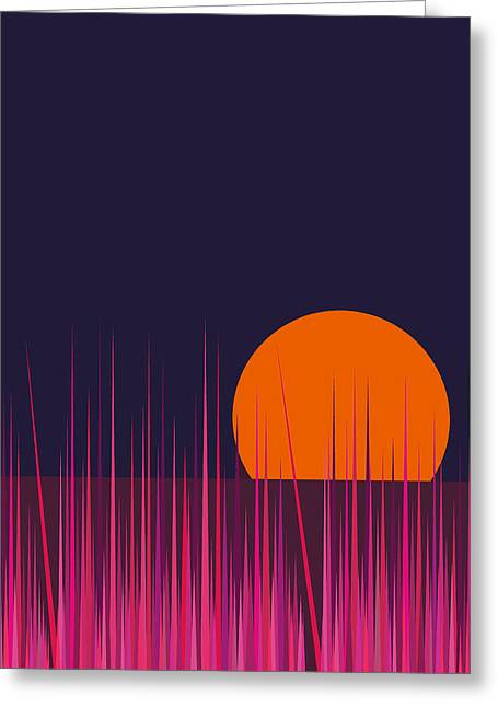 Hot Pink Grass Greeting Card