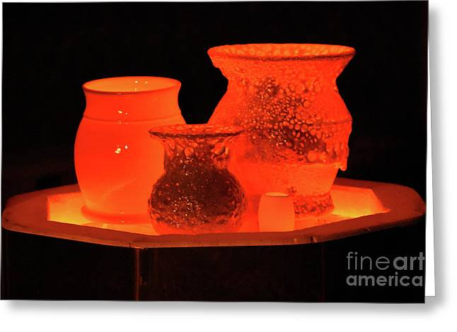 Greeting Card featuring the photograph Hot Pots by Skip Willits