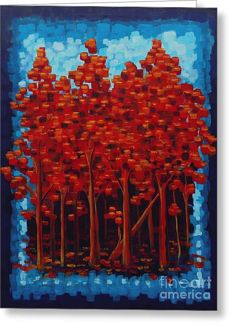 Hot Reds Greeting Card