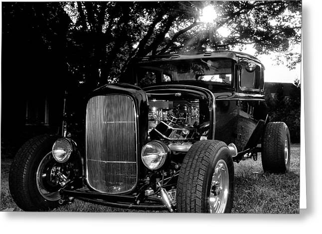 Ford Model A Greeting Cards - Hot Rod - Ford Model A Greeting Card by Bill Cannon