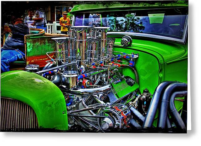 Paint Photograph Greeting Cards - Hot Rod Chrome Greeting Card by Perry Webster