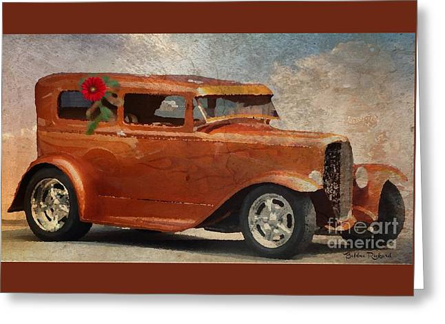 Hot Rod In Oil  Greeting Card