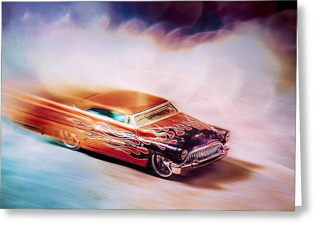 Hot Rod Racer Greeting Card