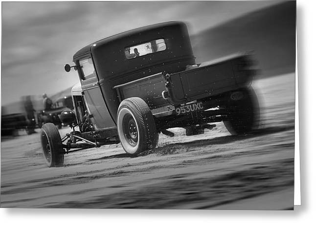 Hot Rods At Pendine 13 Greeting Card