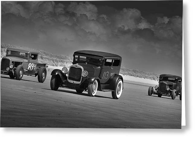 Hot Rods At Pendine 15 Greeting Card