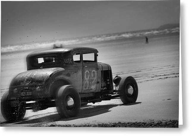 Hot Rods At Pendine 12 Greeting Card