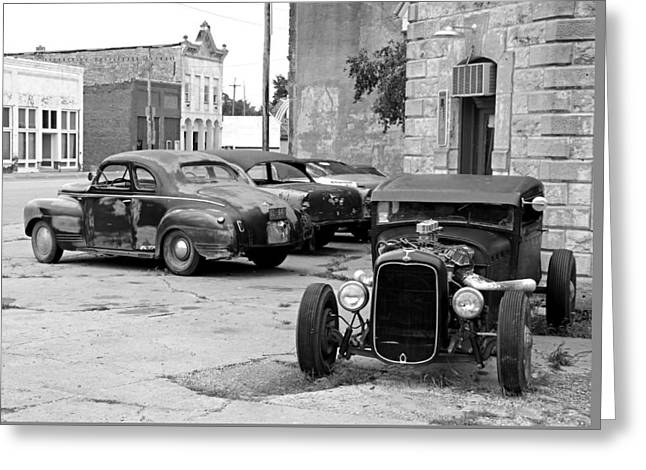 Hot Rods At Rest Greeting Card by Christopher McKenzie
