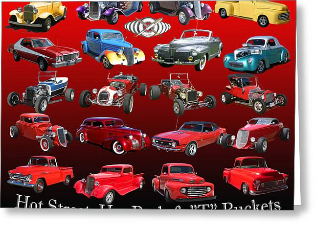 Car Show And Shine Poster Greeting Card