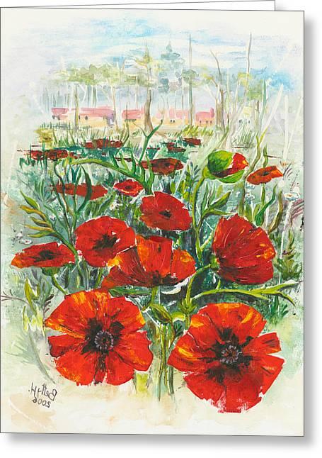 Hot Summer Day 4 Greeting Card by Elisabeta Hermann