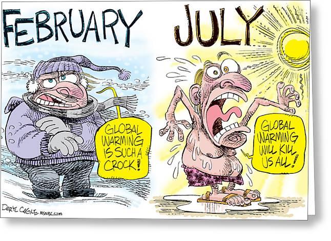 Hot Summer Global Warming Greeting Card