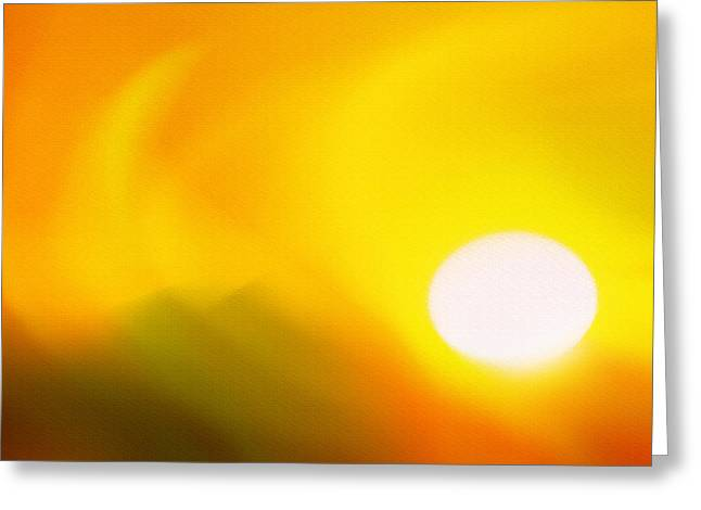 Hot Summer Sun 2 Greeting Card by Steve Ohlsen