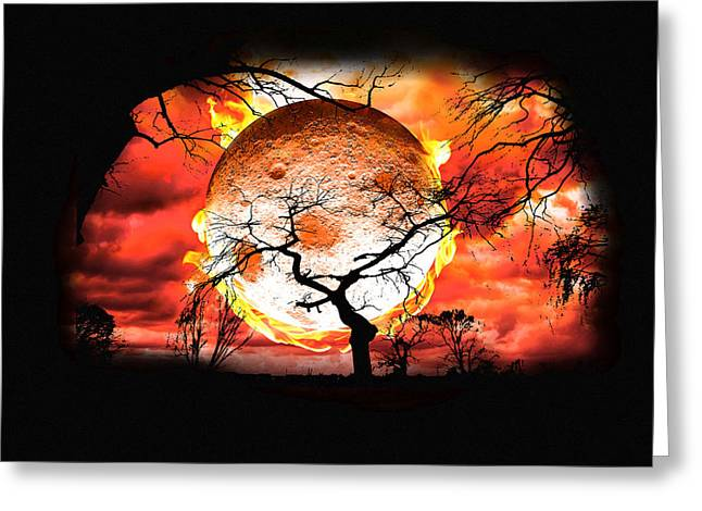 Hot Summers Night Greeting Card