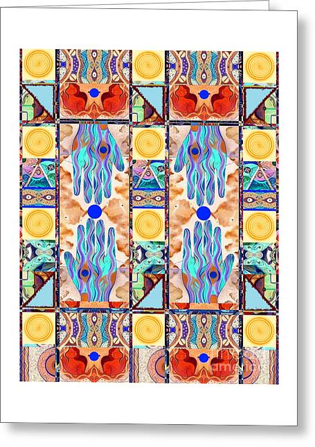 Hot Suns And Blue Planets Greeting Card by Helena Tiainen