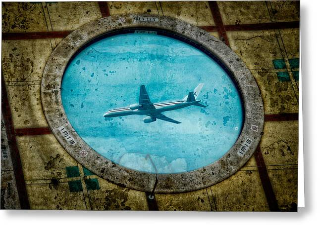Greeting Card featuring the photograph Hot Tub Flight by Harry Spitz